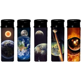 piezo lighter space decor assorted per 50 pcs