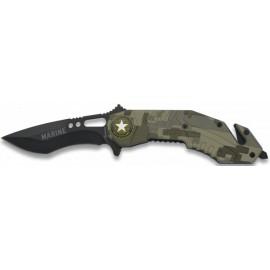 camouflage marine knife 8.5 cm