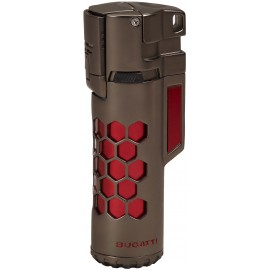 Briquet BUGATTI double torche Mirage Rouge