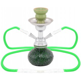 water pipe 25 cm 2 tubes mosaic green