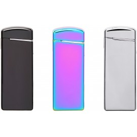 assortment of 5 COZY lighters Slim double arc USB assorted colors
