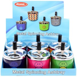 spinning ashtray smiley assorted per 6 pcs