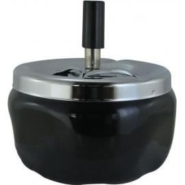 Cendrier poussoir noir 12 cm