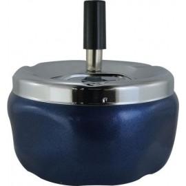 Cendrier poussoir bleu 12 cm