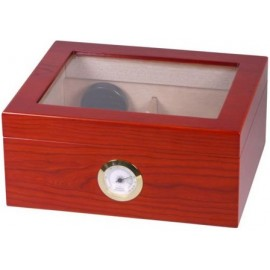 humidor walnut finish top with glass for 25 cigars 260x115x220
