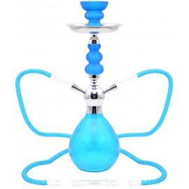 Narguilé double tuyau 45 cm Icy Bleu