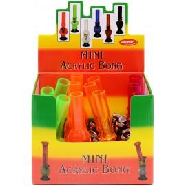 mini bong 15 cm plastic assorted per 12 pcs