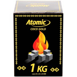 Atomic charcoal natural coco gold 72 cubes 1Kg
