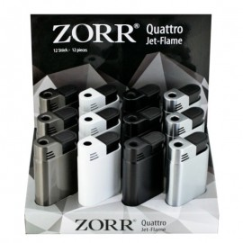 Briquet Torche ZORR Quattro, display de 12