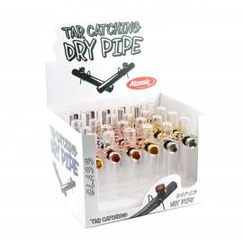 tobaccopipe glass dry pipe assorted per 24 pcs