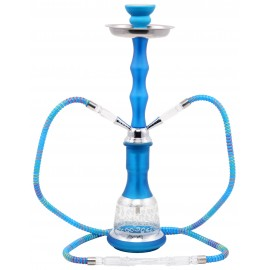 water pipe 2 tubes 45 cm neon blue