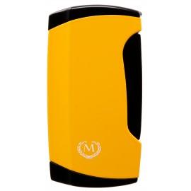 Briquet double torche Myon jaune avec emporte pièce