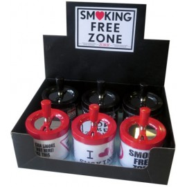 Cendrier poussoir Smoking, display de 6
