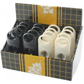Coupe cigares acrylique biseauté noir/blanc, display de 16