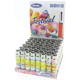 flint festival lighter smiley per 48 pcs