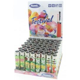 flint festival lighter luck assorted per 48 pcs