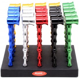 Mini Pipe Aluminium Bambou 6 coloris assortis, display de 25