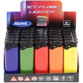 Briquet torche 5 coloris opaques assortis, display de 25