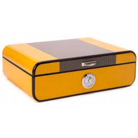 humidor carbon yellow for 25 cigars 280x200x90mm