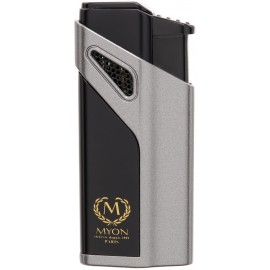 Briquet MYON Cigare triple jet Racing Edition Gris