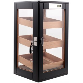 humidor Colton black mat 215 x 280 x 100 mm