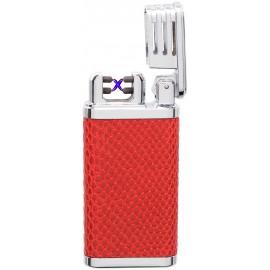 Briquet COZY X-Arc Spark USB façon cuir rouge