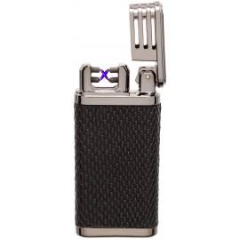 Briquet COZY X-Arc Spark USB façon cuir noir