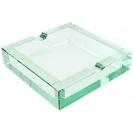 Adorini glass ashtray for 2 cigars, 172 x 172 mm