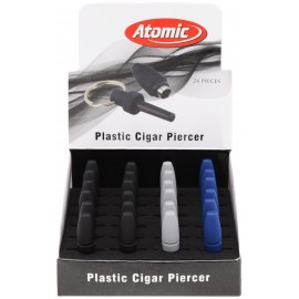 plastic cigar piercer  assorted per 24 pcs