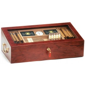 Glass top Cigar Humidor rose wooden