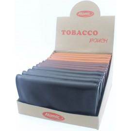Blague à tabac XL 3 coul. ass, double empl. papier, display de 12