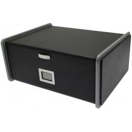 humidor black 30 x 24 x 13 cm