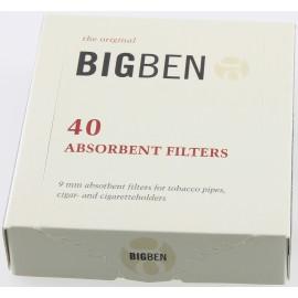 pipe filter 9 mm BIG BEN box of 40 filter