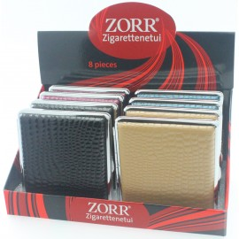 zorr cigarettes case ass PU leather per 8 pcs