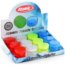 atomic plastic grinder 4 parts, 30 mm assorted per 12 pcs