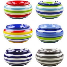 ceramik ashtray 13.5 cm assorted per 6 pcs