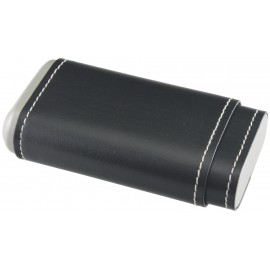 leather black cigar case for 3 pcs