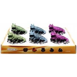 polyresin ashtray chameleon/skull assprted per 6 pcs