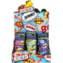Briquet Torche Zorr gomme Comic ass., display de 15