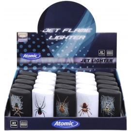atomic jet lighter spider assorted per 25 pcs