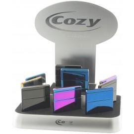 cozy USB lighter square model assorted per 9 pcs