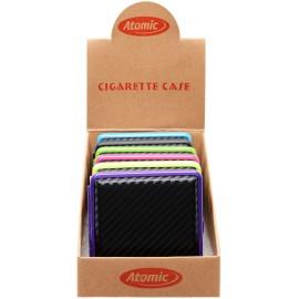 Etui à cigarettes ATOMIC façon carbone pour 20 pcs, display de 6
