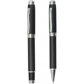 set CHESS roller and ball pen carbon fiber in gift box