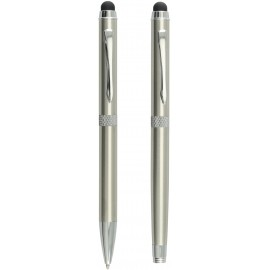 set CANNES ball pen and roller silver in gift box