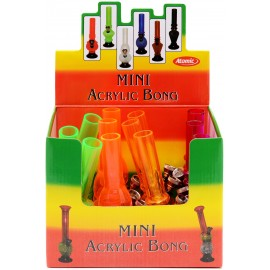 mini bong 15 cm plastic assorted per 12 pcs