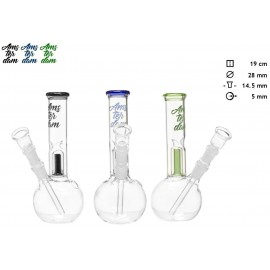 glass bong 19 cm Amsterdam Ø 28 mm, assorted per 6 pcs