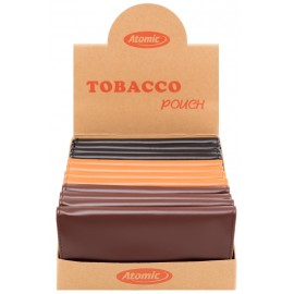 Blague à tabac ATOMIC Noir et Marron, display de 12