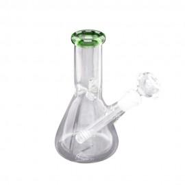 glass ice bong 20 cm transparent green
