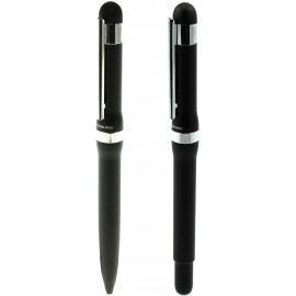gift set ball pen and roller NILKA black Antonio Miro