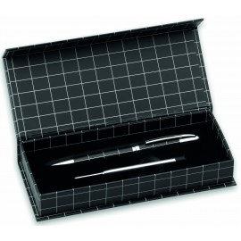 ball pen DACOX black with refill in gift box
